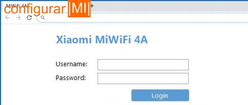 iniciar sesion router xiaomi 4a